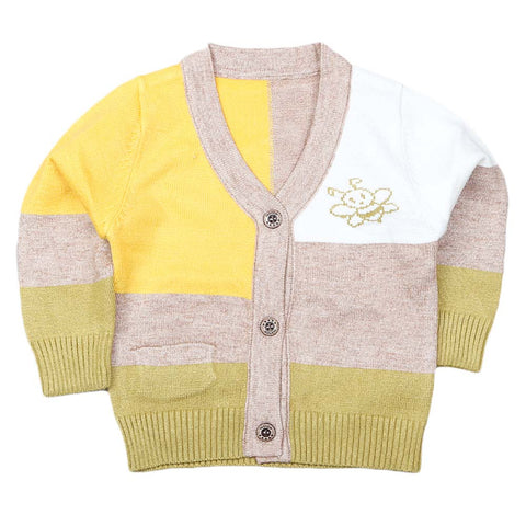 Newborn Boys Full Sleeves Sweater - Yellow