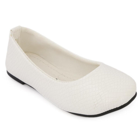 Girls Fancy Pumps - White