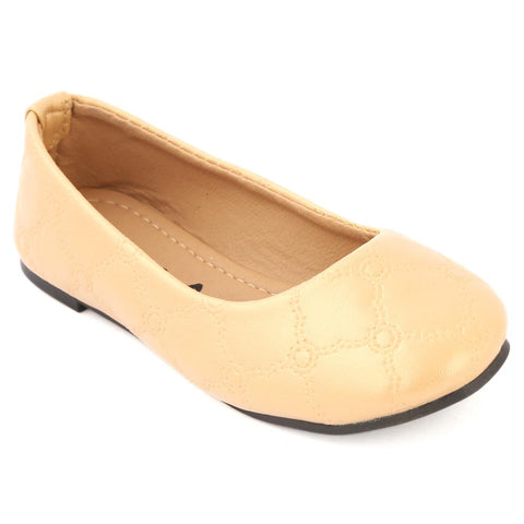 Girls Fancy Pumps - Beige