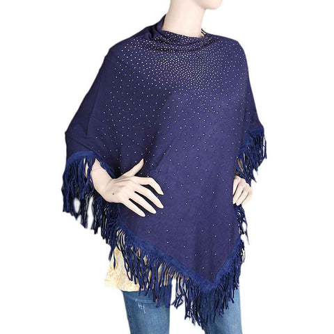 Women's Poncho - Navy Blue