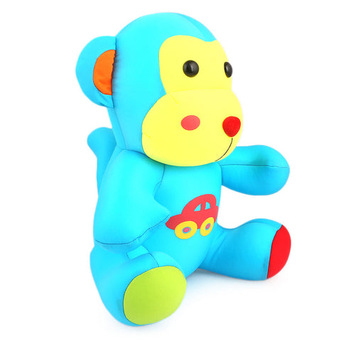 Stuffed Soft Been Monkey Toy - Blue - test-store-for-chase-value