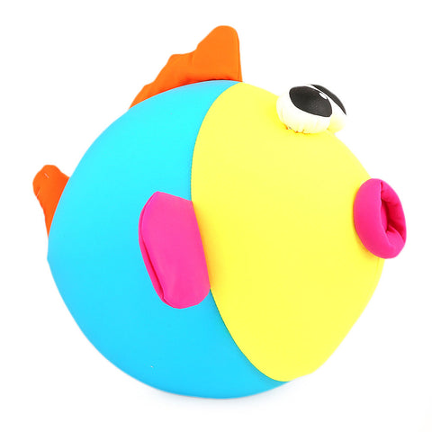 Stuffed Soft Been Fish Big Eye Toy - Yellow - Blue - test-store-for-chase-value