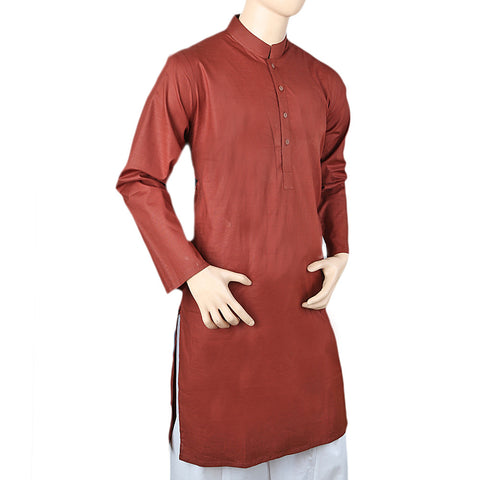 Men's Basic Kurta - Brown