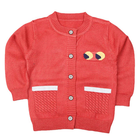 Newborn Boys Full Sleeves Sweater - Rust