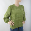 Women's Short Length Sweater (EE1) - Green