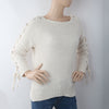 Women's Short Length Sweater (EE1) - White