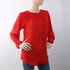 Women's Western Top With Front Button - Red