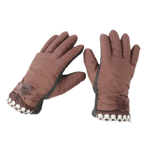 Women's Gloves - Brown