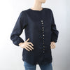 Women's Western Top With Front Button - Navy Blue