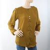 Women's Western Top With Front Button - Olive Green