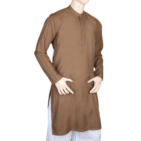 Mashriq Fancy Kurta For Men - Light Brown