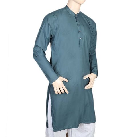 Mashriq Fancy Kurta For Men - Sea Green