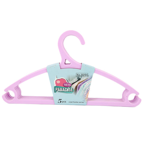 Cloth Hanger 5 Pcs - Purple