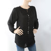 Women's Western Top With Front Button - Black