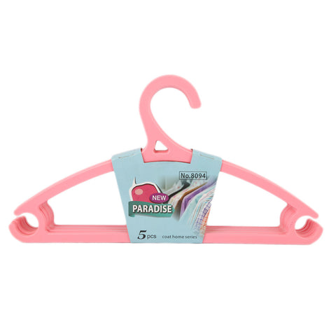 Cloth Hanger 5 Pcs - Pink