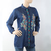 Women's Embroidered Top - Blue