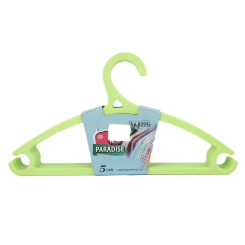 Cloth Hanger 5 Pcs - Green