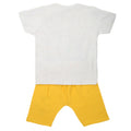 Boys 2 Pcs Suit Half Sleeves - Yellow