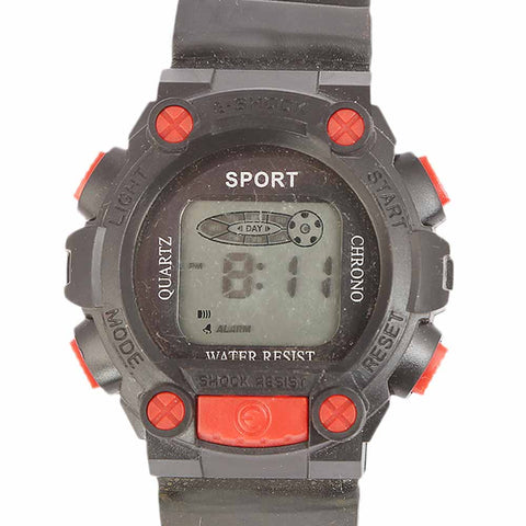 Kids Digital Watch - Red
