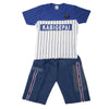 Boys 2 Pcs Suit Half Sleeves - Blue