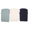 Boys Plain Sleeveless Sweater Pack Of 3 - Multi