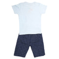 Boys Half Sleeves 2 Piece Suit - Blue
