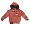 Boys Leather Jacket - Rust