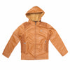 Boys Leather Jacket - Camel