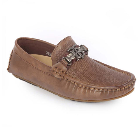 Boys Loafers 3339C - Khaki