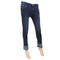 Women's Denim Pant Bottom Embroidered White - Dark Blue