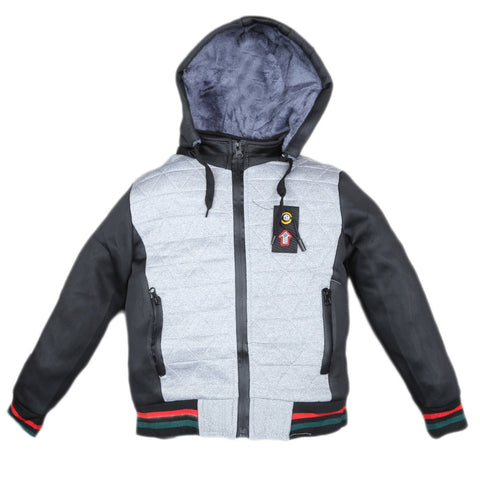 Boys Full Sleeves Jacket - Grey