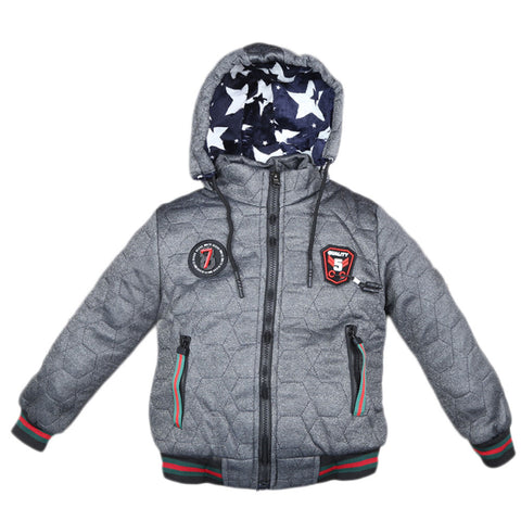Boys Full Sleeves Jacket - Dark Grey