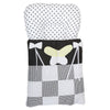 Newborn Embroidered Sleeping Bag 2 Pcs 6002 - Black