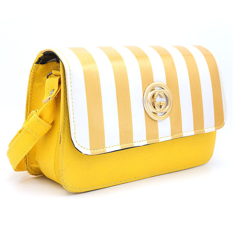 Women's Shoulder Bag 9136 - Yellow