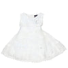 Girls Fancy Frock White