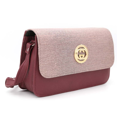 Women's Shoulder Bag 9137 - Maroon
