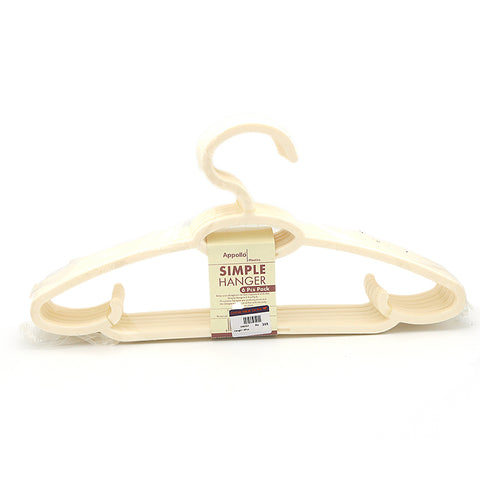 Cloth Hangers 6 Pcs - White