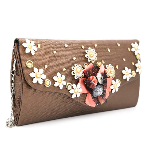 Women's Clutch 9142 - Coffee