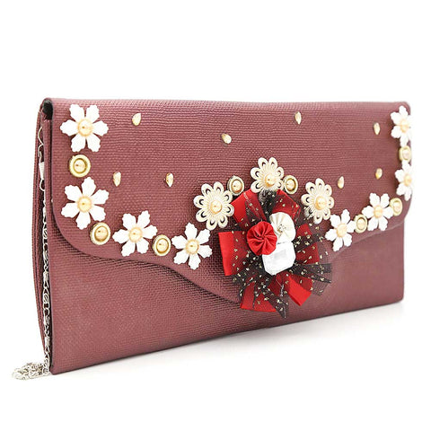 Women's Clutch 9142 - Maroon