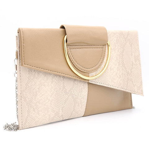 Women's Clutch K-2089 - Beige