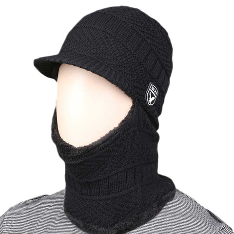 Men's Face Trapper Hat - Black