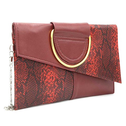 Women's Clutch K-2089 - Maroon