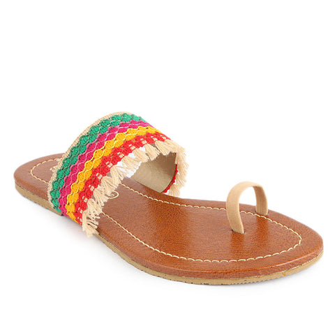 Women's Embroidery Slipper (SA-011) - Fawn - test-store-for-chase-value