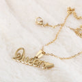 Name Locket Chain - Golden - (Queen)