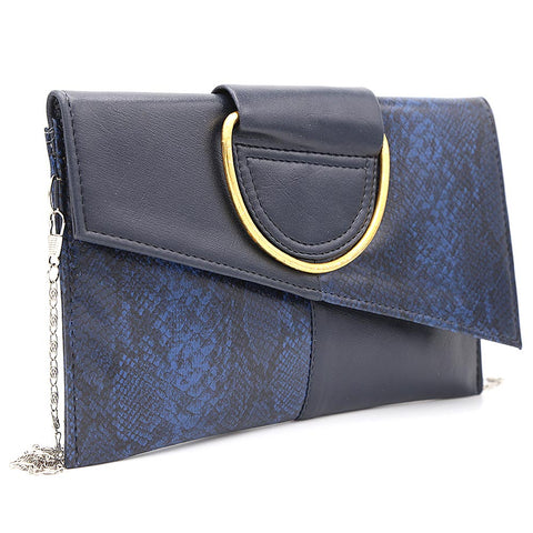 Women's Clutch K-2089 - Navy Blue