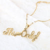 Name Locket Chain - Golden - (This❤️Only)