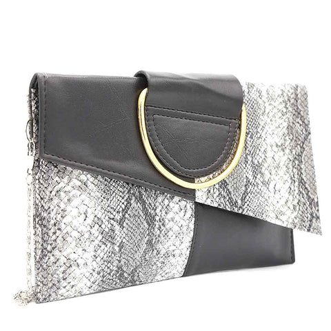 Women's Clutch K-2089 - Black-Grey