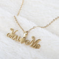 Name Locket Chain - Golden - (You❤️Me)