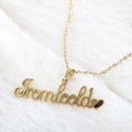 Name Locket Chain - Golden