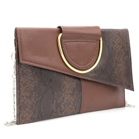 Women's Clutch K-2089 - Coffee